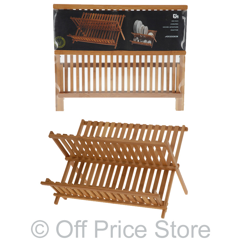 geschirrst nder abtropfst nder teller st nder bambus abtropfgestell gestell holz ebay. Black Bedroom Furniture Sets. Home Design Ideas