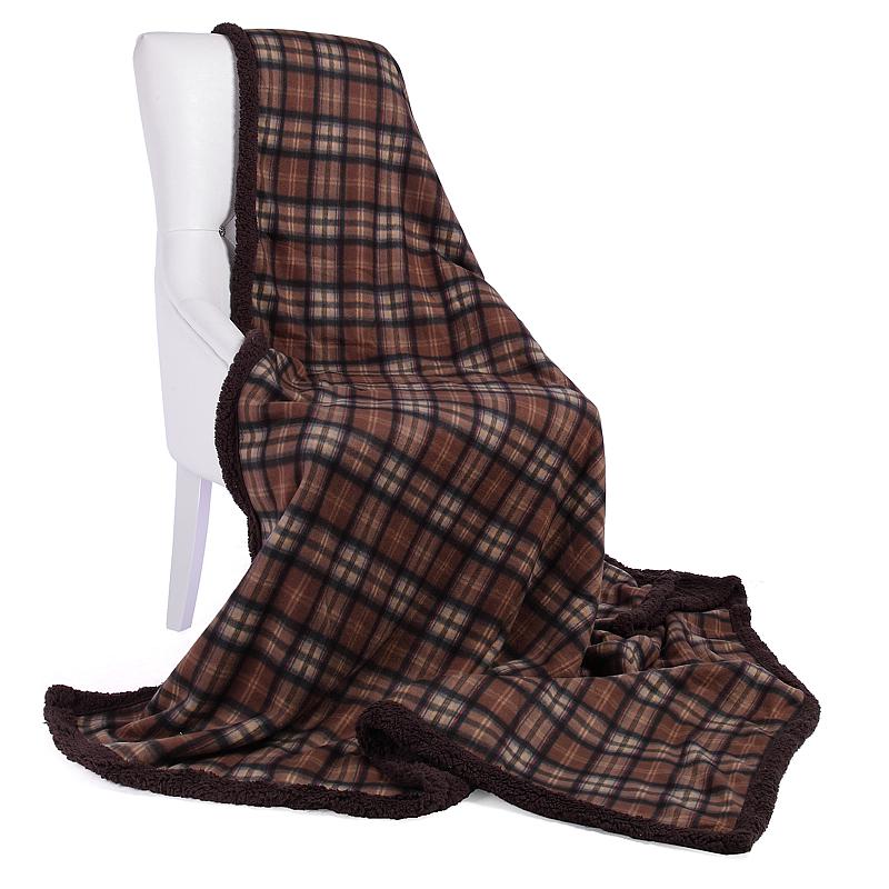 wohndecke tagesdecke kuscheldecke decke karo schlafdecke sofa berwurf 150x200 cm ebay. Black Bedroom Furniture Sets. Home Design Ideas