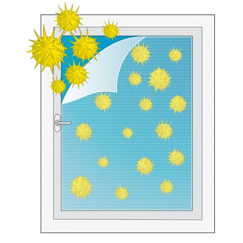 pollenschutzvlies pollenschutz f r fenster 130x150. Black Bedroom Furniture Sets. Home Design Ideas