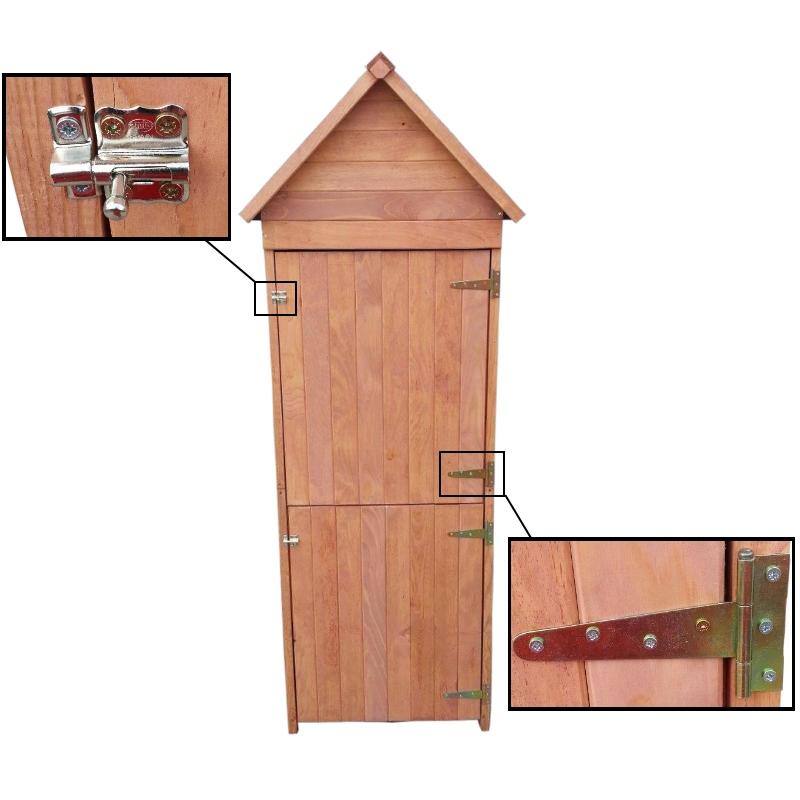 xl holz ger tehaus 192x66x47 cm schuppen ger teschuppen. Black Bedroom Furniture Sets. Home Design Ideas