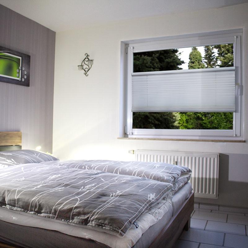 klemmfix plissee wei 130 220cm fenster t r faltrollo rollo ink klemmtr ger ebay. Black Bedroom Furniture Sets. Home Design Ideas