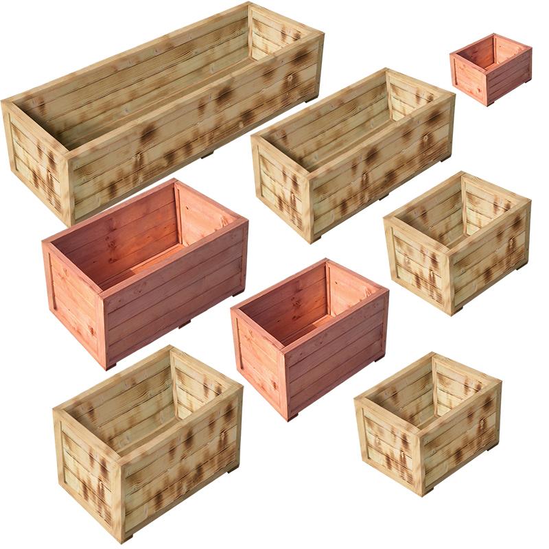 pflanzenkasten blumenk bel pflanztrog pflanzk bel blumenkasten pflanzkasten holz ebay. Black Bedroom Furniture Sets. Home Design Ideas