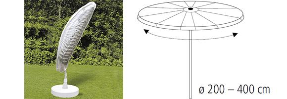 abdeckhaube f r gartenschirm bis 4 5 meter sonnenschirm ampelschirm schutzh lle ebay. Black Bedroom Furniture Sets. Home Design Ideas