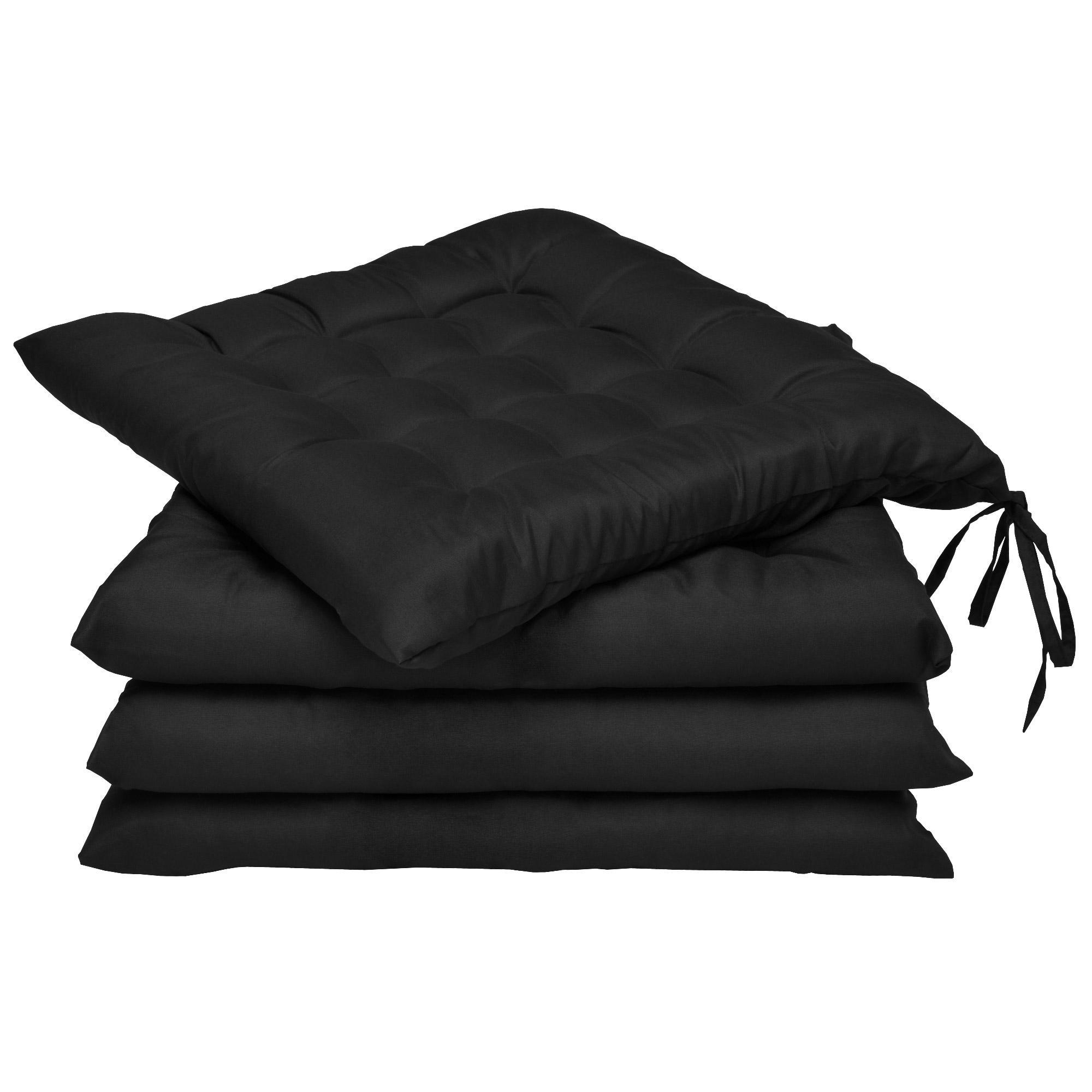 sitzkissen stuhlkissen sets 40x40 cm bodenkissen dekokissen garten kissen ebay. Black Bedroom Furniture Sets. Home Design Ideas