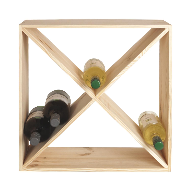 weinregal f r 24 weinflaschen holz flaschenregal. Black Bedroom Furniture Sets. Home Design Ideas